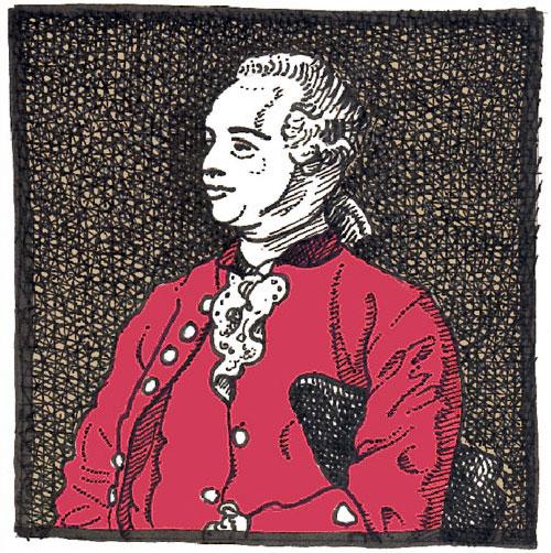 Jaques Cazotte (1719 - 1792 guillotiniert). Klick auf das Bild führt zu einer größeren Ansicht des Portraits.