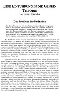 Übersetzung, Daniel Chandler: »Einführung in die Genre-Theorie«