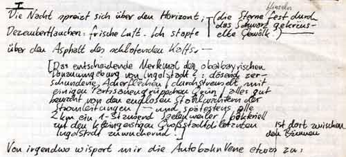 Handschrift »Nachtspaziergang«