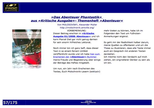 »Terracom«: »Das Abenteuer Phantastik«