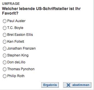 Umfrage »Die Welt«
