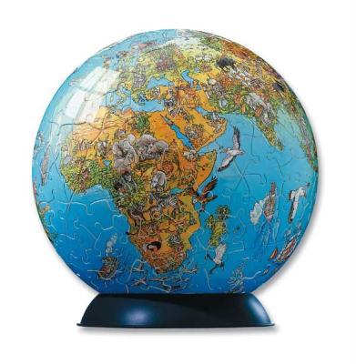 Illustrierte Weltkarte
