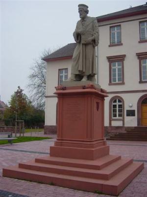 Peter Schöffer Denkmal in Gernsheim am Rhein.