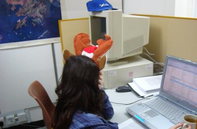 Janice is soooo cute with antlers :)