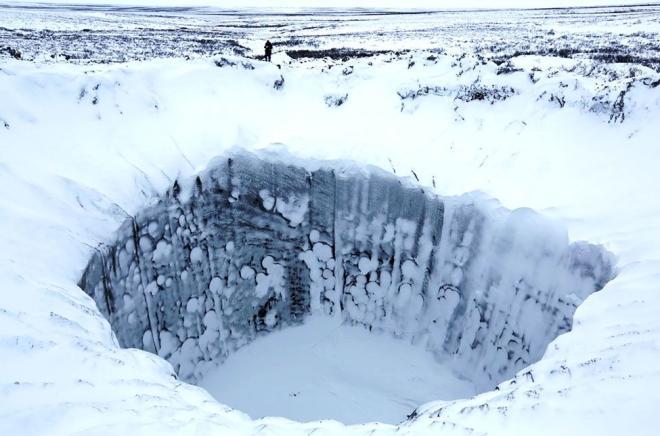 Krater in Sibirien
