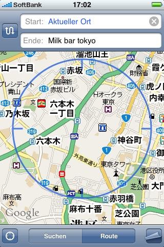 Google Map von Tokio