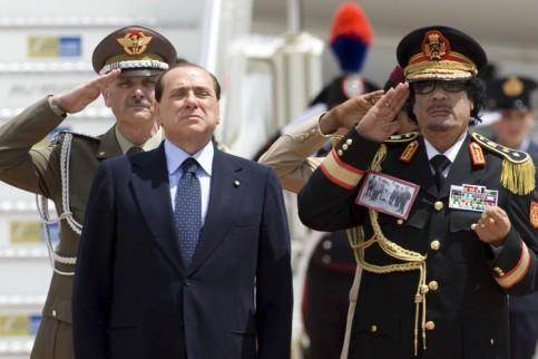 Berlusconi Gaddafi