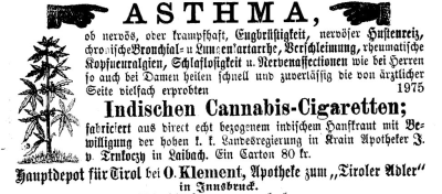 In Österreich wurde schon während der Kaiserzeit gekifft