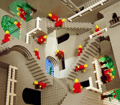 Escher's Relativity in Lego