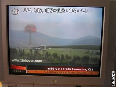 Nuclear explosion in Krkonoše