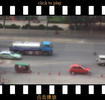 Wasserspritzfahrzeug in Chengyang