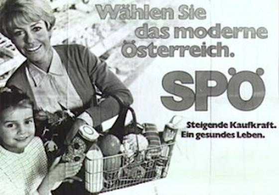 Wahlkampfplakat SPÖ 1970