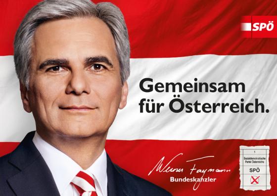 Bundeskanzler Faymann im Wahlkampf