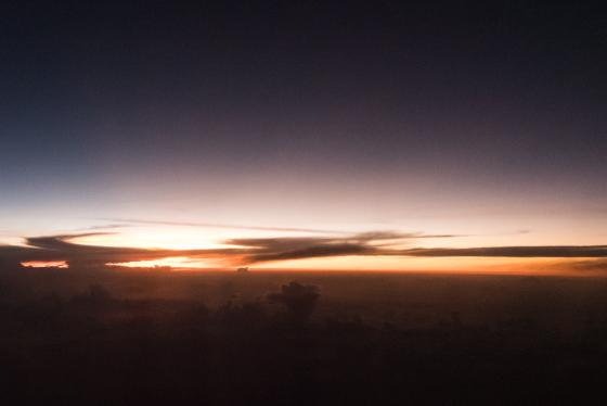 Sundown on the Flight to Santa Marta