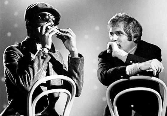 Stevie Wonder playing to Burt Bacharach