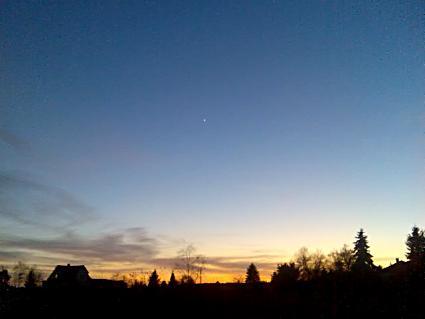 Venus, Abendstern