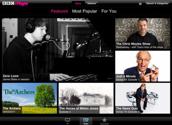Yet Another Grid On The iPlayer