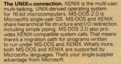 From an MS ad in Byte magazine on its OS offerings and their convergance