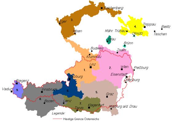 Gebietsansprüche des Staates Deutschösterreich