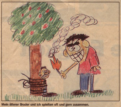 Mr. Larson seems to have started to draw social images early in his life.