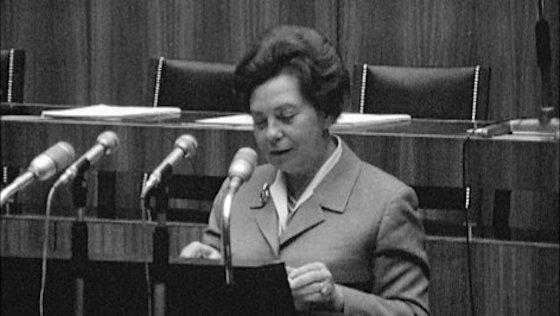 Herta Firnberg, SPÖ, 2. Ministerin, 3. Frau in einer österreichischen Bundesregierung