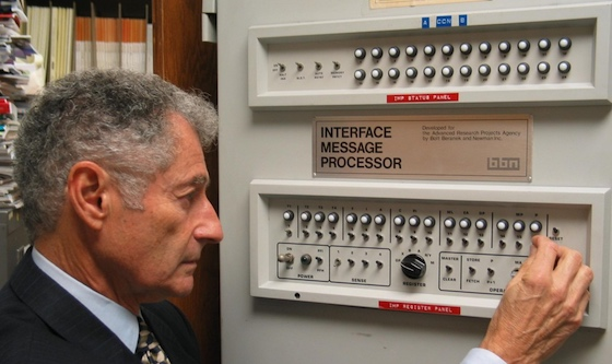 Prof. Leonard Kleinrock with an Interface Message Processor