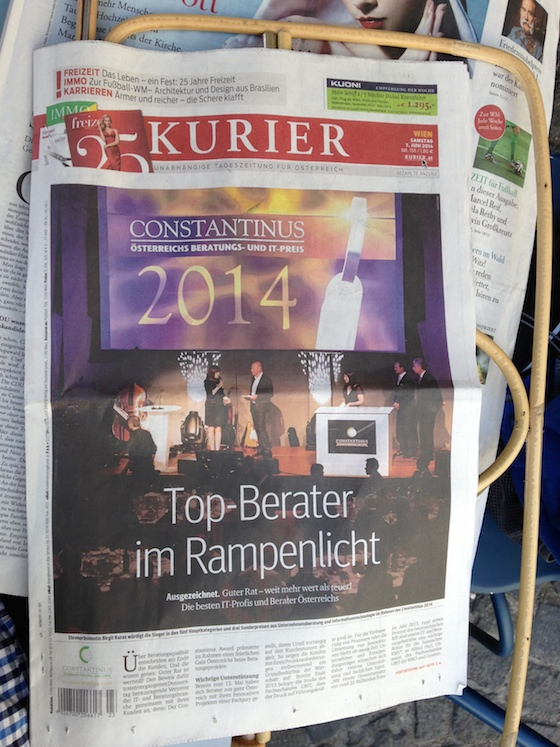 Werbetitelblatt Kurier