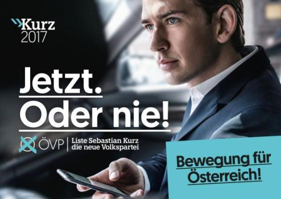 Sebastian Kurz auf dem Weg ins Kanzleramt: It's now or never.