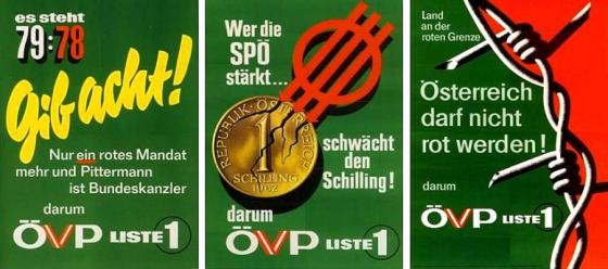 ÖVP Wahlplakat 1962, grün