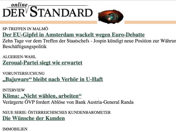 97er Ausgabe des Online-Standard
