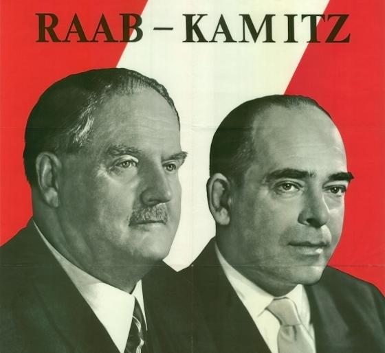 Julius Raab und Reinhard Kamitz, der schwarze Kanzler und sein Nazi-Finanzminister