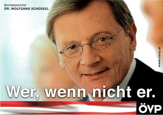 Dr. Wolfgang Schüssel Wahlplakat