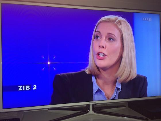 Sonja Steßl in der ZIB 2, Quelle: facebook.com/sonjastessl?fref=photo