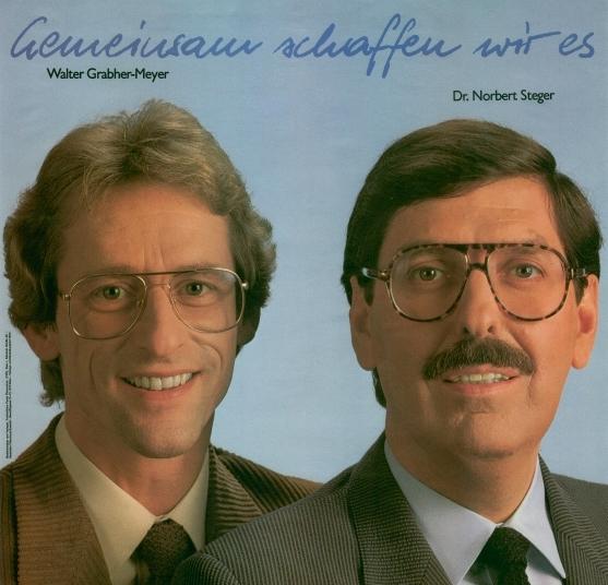 Walter Grabher-Meyer und Norbert Steger