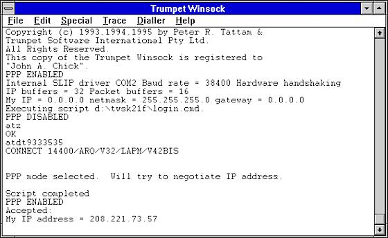 Trumpet Winsock
