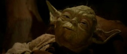 Council man Yoda on his death bed