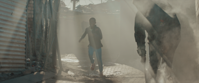 Running through smoke