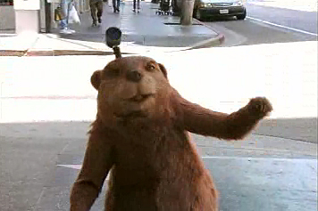 """Image of """"Beaver Cam"""", viral video parody of Mr. Beaver from Narnia, for Epic Movie"""