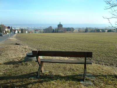 Cunnersdorf, Blick zum Malakoffturm am Marienschacht Bannewitz