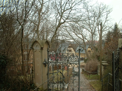 Blick auf Briesnitz vom Kirchberg