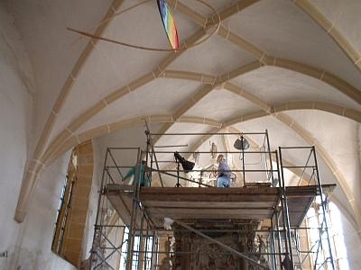 Restaurierung des Altars in der Wallfahrtskirche Burkhardswalde