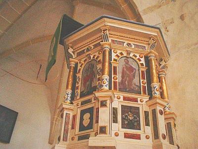 Renaissance-Kanzel in der Wallfahrtskirche Burkhardswalde