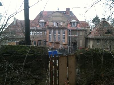 Villa am Spitzberg bei Coswig, Rückseite