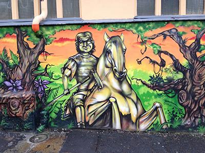 Graffiti am Dammweg