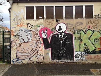 live long and prosper - Graffiti am Dammweg