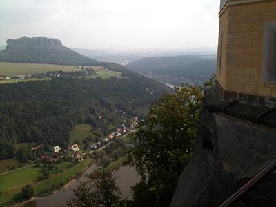 Festung Königstein, Blick zum Lilienstein