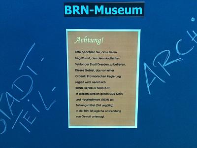 BRN-Museum, Stadtteilarchiv Bunte Republik Neustadt, auf dem Markt für Dresdner Geschichte
