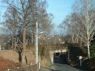 Bahndamm der Windbergbahn (Sächsische Semmeringbahn, Heddel), jetzt Radweg und Wanderweg von Gittersee nach Possendorf