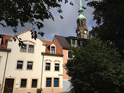 Radeberg, Niedergraben und Kirche