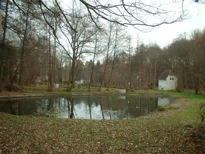 Deutschenbora, Teich im Park